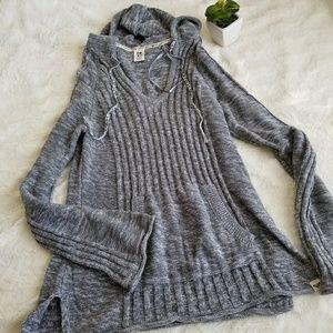 Roxy Hoodie Gray Sweater